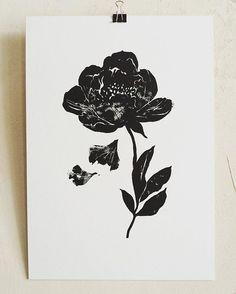 Botanical print. Available for sale #linoprint#линогравюра#ботаническаяиллюстрация#peony#пионы
