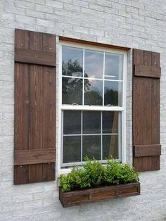 Shutters Custom Board And Batten By Alittlecurbeal Rustic Wooden Exterior Cedar