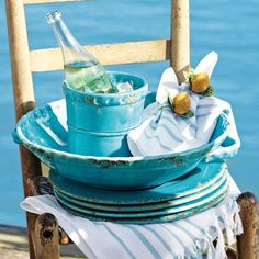 Gorgeous, rustic bowl perfect for summer BBQ's!