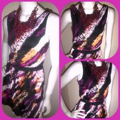Multi Colored Dress This Multi Colored Dress is Super Cute, Sleeveless, short and Adorable! Great for Casual, or can be paired with a Blazer for a more Upscale look. Dresses