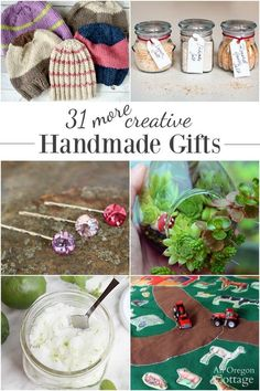 31 easy doable handmade gifts for everyone on your list! Christmas birthdays Mother's Day weddings - you name it there is a gift idea here for you that is cute useful and budget-friendly. Easy Homemade Gifts, Diy Food Gifts, Easy Gifts, Fun Gifts, Handmade Christmas Gifts, Christmas Gifts For Her, Handmade Gifts, Diy Christmas, Diy Gifts For Friends