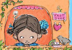 Priscilla Burris  She does the cutest illustrations!!!