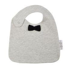 Grey Bow tie bib Stone #bow #bib #HouseOfJamie #slab #bavette