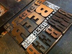 The lockup for our beer coasters. Includes metal and wood type in a variety of sizes and typefaces.