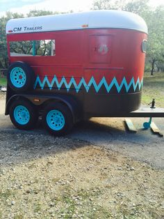 Painted 2 horse trailer $3500