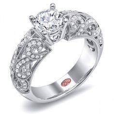 DemarcoJewelry.com  Available in White Gold 18KT and Platinum. 0.28 RDCapture her grace and endless beauty with this confident yet elegant design. We have also incorporated a unique pink diamond with every single one of our rings, symbolizing that hidden, unspoken emotion and feeling one carries in their heart about their significant other. This is not just another ring, this is a heirloom piece of jewelry.   Demarco Bridal Engagement Ring.