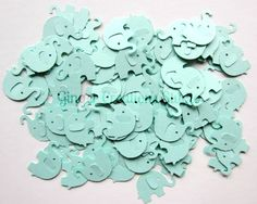 Wedding Confetti Elephant Mint Baby Shower Elephant Confetti - 100 pieces