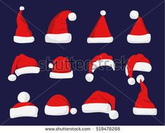 Image result for christmas hat vector stock photo flat