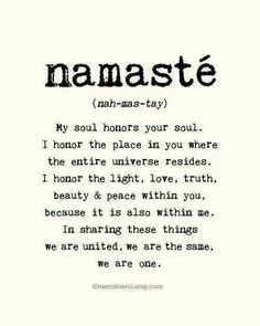 Namasté~ well Fancy Face, that pretty much sums it up.