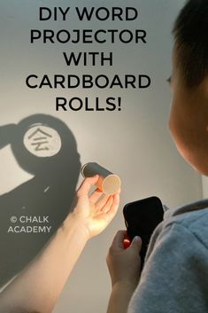 Eco-friendly way to learn Chinese characters with a DIY cardboard roll projector! Sight Word Activities, Kids Learning Activities, Hands On Activities, Fun Learning, Phonics Activities, Cardboard Rolls, Diy Cardboard, Learn Chinese Characters, Nature Words
