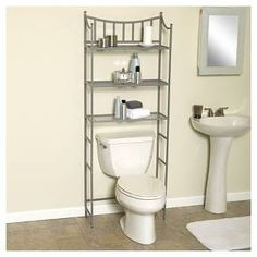 With 3 Storage Shelves Sa Zenna Home Metal Over The Toilet Bathroom Spacesaver
