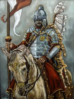 Polish Hussar by K. Czyrny. Oil on board.2014