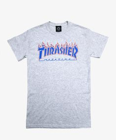 Thrasher T-shirt Patriot Flame Ash Grey