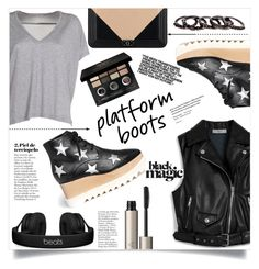 """""""platform boots"""" by peta-5 ❤ liked on Polyvore featuring STELLA McCARTNEY, Mulberry, Acne Studios, Chanel, Ilia, Bobbi Brown Cosmetics, Free Press, Beats by Dr. Dre, Olsen and Meghan Los Angeles"""
