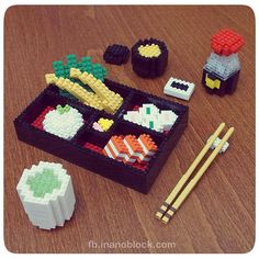 nanoblock Bento Set by Christopher Tan