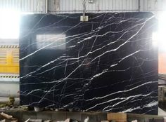 negro marquina marble 3cm slab, black background colour with random white veining  to get a quote inquiry@morestone.net