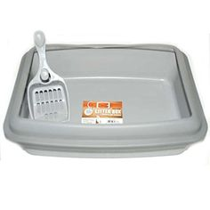 Bonita P Litter Box w Scoop Gray, Case of 18 ** Details can be found by clicking on the image. (This is an affiliate link and I receive a commission for the sales) Pet Cats, Pets, Litter Box, Pet Supplies, Cat Lovers, Gray, Rabbits, Hair Care, Image Link