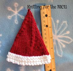 Elf on the Shelf Micro Preemie Christmas Hat Free Pattern.