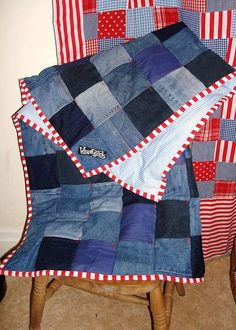 Recycled Denim Patchwork snuggle blanket with candystripes on Etsy 2019 Recycled Denim Patchwork snuggle blanket with candystripes on Etsy The post Recycled Denim Patchwork snuggle blanket with candystripes on Etsy 2019 appeared first on Denim Diy. Denim Quilts, Denim Quilt Patterns, Blue Jean Quilts, Patchwork Jeans, Denim Rug, Bag Patterns, Snuggle Blanket, Wool Blanket, Picnic Blanket