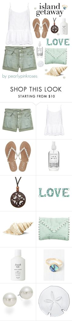 """""""Island Getaway"""" by pearlypinkroses ❤ liked on Polyvore featuring AG Adriano Goldschmied, Velvet by Graham & Spencer, M&Co, Herbivore, NOVICA, Roman, Rebecca Minkoff, Fresh, AK Anne Klein and Simon Pearce"""