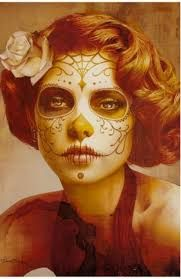 Image result for skull and rose and day of the dead girl tattoo