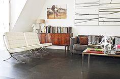 Gray Cork Flooring // Looks like Concrete