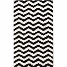 @Overstock - Soft and plush, this Alexa shag rug features a bold black and white chevron pattern. The construction of this fun and fashionable area rug is sturdy and will stand the test of time.       http://www.overstock.com/Home-Garden/Luna-Black-and-White-Chevron-Shag-Rug-8-x-10/6421964/product.html?CID=214117 $264.99
