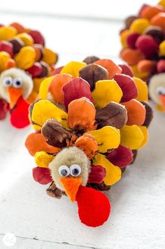 Painted Pinecone Turkey Craft Easy Thanksgiving Crafts for Kids Preschool Fall Crafts including pilgrims turkeys leaves harvest vegetables and Thanksgiving Crafts For Kids, Thanksgiving Activities, Thanksgiving Decorations, Pinecone Crafts Kids, Thanksgiving Cookies, Autumn Crafts For Kids, Kids Christmas, Harvest Crafts Kids, Thanksgiving Turkey