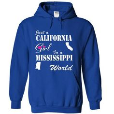 California Girl in a Mississippi World - #fall hoodie #estampadas sweatshirt. ORDER HERE => https://www.sunfrog.com/States/California-Girl-in-a-Mississippi-World-suqju-RoyalBlue-Hoodie.html?68278