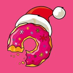 Christmas Donut, The Simpsons Donuts Simpsons, Homer Simpson Donuts, The Simpsons, Christmas Donuts, Simpsons Drawings, Office Christmas Decorations, Christmas Cartoons, Aesthetic Stickers, Christmas Wallpaper