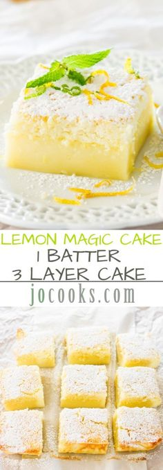 Lemon Magic Cake!! Can't believe I have finally found this recipe!!  Best ever lemon bar and easy to make.