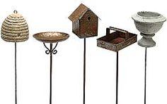 ♕ large selection of fairy garden supplies ~ I bought the bee skep & birdhouse for my fairy garden