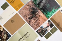 Forest Found brand identity nature natural tree ecological eco branding green brow beautiful minimal mindsparkle mag inspire inspiration www Identity Design, Visual Identity, Brand Identity, Paper Making Process, Communication Development, Company Values, Outdoor Education, Event Company, Play To Learn