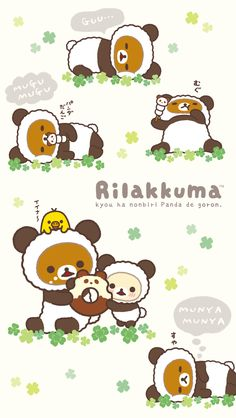 Rilakkuma Panda Series Wallpaper:640x11361080x1920