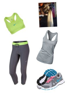 """""""Gym Day"""" by cairobella ❤ liked on Polyvore featuring NIKE"""
