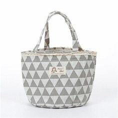 e532a411ae Color Geometry Print Thermal Insulated Lunch Box Tote Cooler Bag