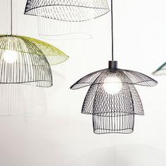 suspension m tal bleu gris 56cm papillon papillons. Black Bedroom Furniture Sets. Home Design Ideas