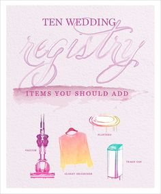 Add Items To Your Registry that you didn't realize you needed! #weddingregistry #macys #weddingchicks http://www.weddingchicks.com/2014/04/22/wedding-registry/