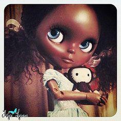 """""""Evangeline"""" Blythe custom. She is so pretty."""