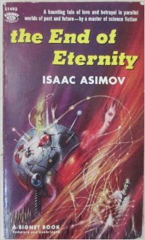 """Book: End of Eternity (1955) by Isaac Asimov - An excellent time-travel book, Eternity workers travel both back in time and forward in time, and use their scientific knowledge and skills to determine how the past affects the present and future. They also use their scientific knowledge to determine the """"Minimum Necessary Change"""" that is required to adjust the past to correct problems in the future. I rated this book 5 stars."""