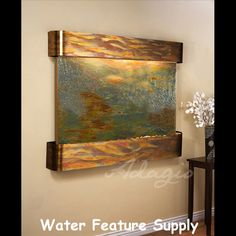 Teton Falls Wall Fountain with Rajah Featherstone in Rustic Copper Large Outdoor Fountains, Indoor Wall Fountains, Tabletop Water Fountain, Cat Water Fountain, Indoor Fountain, Water Fountains, Fountain Ideas, Garden Fountains, Indoor Waterfall Wall