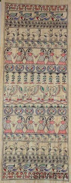 Madhubani Art, Madhubani Painting, Bohemian Rug, Sketch, Paintings, Design, Sketch Drawing, Paint, Painting Art