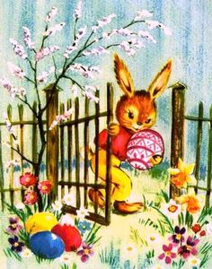 Vintage Easter images in German, - Frohe Ostern Easter Greeting Cards, Vintage Greeting Cards, Vintage Postcards, Easter Art, Hoppy Easter, Easter Crafts, Vintage Easter, Vintage Holiday, Decoupage