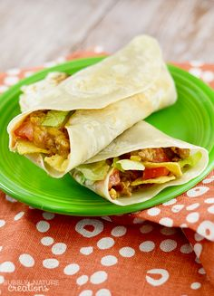 Crunchy Beef and Bean Burritos!!!  These easy stuffed burritos are delicious and frugal!