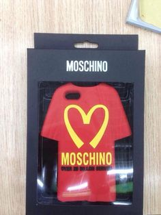 For iPhone 5 5s Case Silicon Cover Brand MOSCHINO Fashion For iPhone5 iPhone5s Lovely Clothes Luxury Retail Box Hot Wholesale