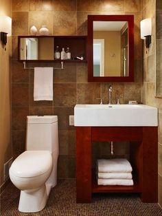 Small bathroom - tan & maroon this will be my bathroom colors! Maybe for my Jack and Jill bathroom