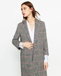 Image 2 of CHECK COAT from Zara