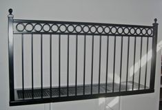 Wrought iron Balconies. Ring Band Railing balcony from www.deciron.com, they ship nationwide!