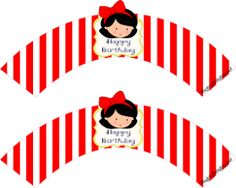 snow white cupcake wrappers striped