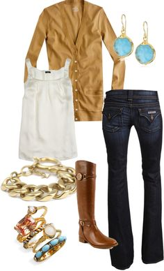 """""""Yellow and Turquoise"""" by vintagesparkles78 on Polyvore"""